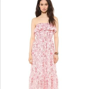 Juicy Couture floral white pink maxi dress XS